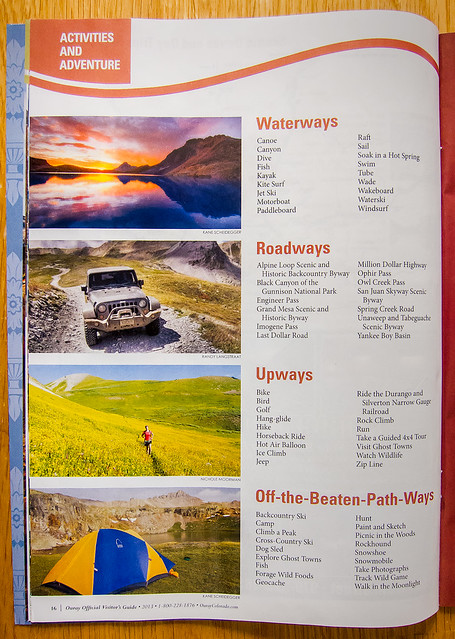Ouray Visitor's Guide 2013 - Roadways