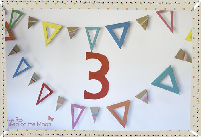 Guirnalda de cartón cumpleaños original birthday garland 00