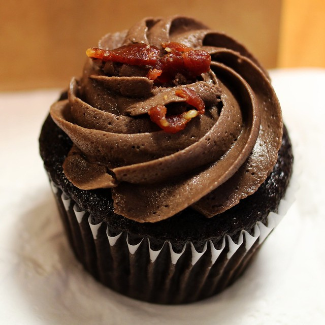 Dark Chocolate Bacon Cupcake @ The Girls Who Bake Next Door | Flickr ...