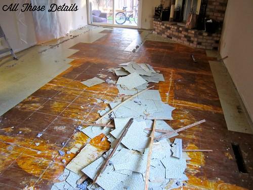Foyer Tile Job : The kitchen remodel part demolition all those