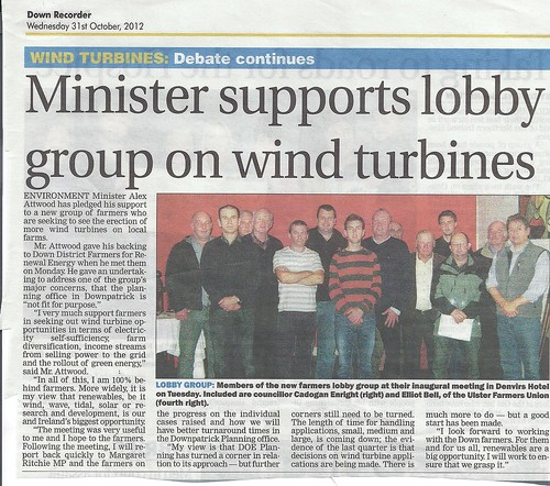 Minister supports Farmers on Wind Turbines Oct 2011 by CadoganEnright