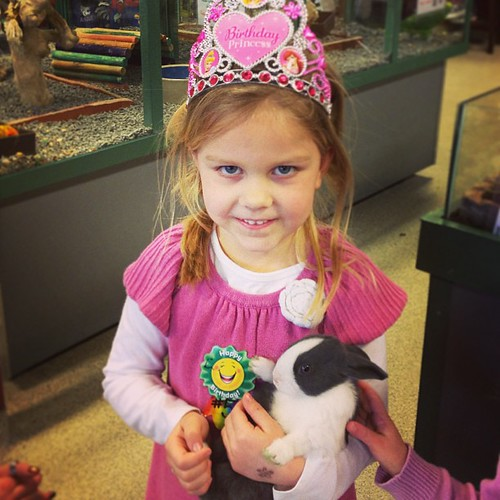 Birthday Princess and her bunny. We left the bunny at the store though.