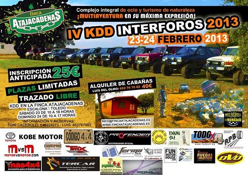 IV Kdd Interforos 4x4 2013 se celebrará en la Finca Atajacadenas