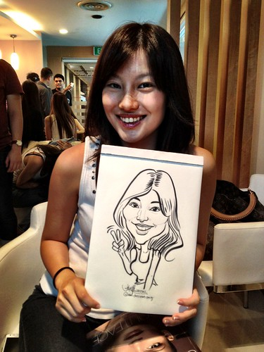 caricature live sketching for Orchard Scotts Dental for Miss Universe Singapore - 10