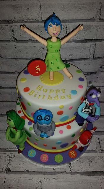 Inside Out Themed Cake by Izabela Zakoscielna