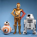 Star Wars The Force Awakens BB-8, C-3PO, and RO-4LO (12-inch scale, Target Exclusive)