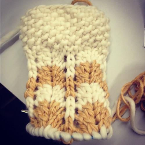 A chevron Christmas stocking. It's ok if you wanna bask in my knitting glory. #genius