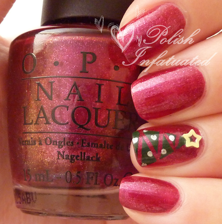 festive christmas tree nails2