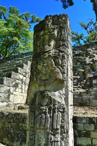 Stela - West Plaza - Copan - Ruinas Copan, Honduras
