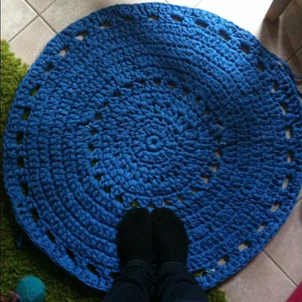 Au Faite Il Est Fini Tapis Trapilho Crochet Melcouettes