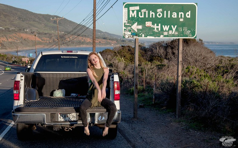 Canon 5D Photos of Pretty Blonde Model by  a Pickup Truck!
