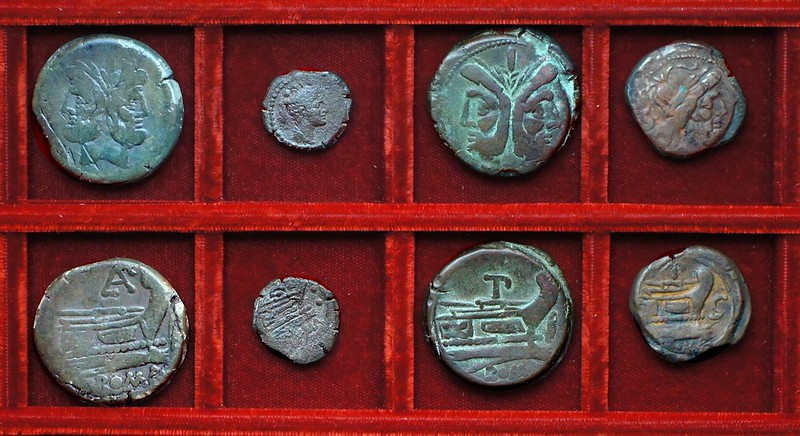 RRC 176 PAE Aemilia Paetus bronzes, RRC 177 PT bronzes, Ahala collection, coins of the Roman Republic
