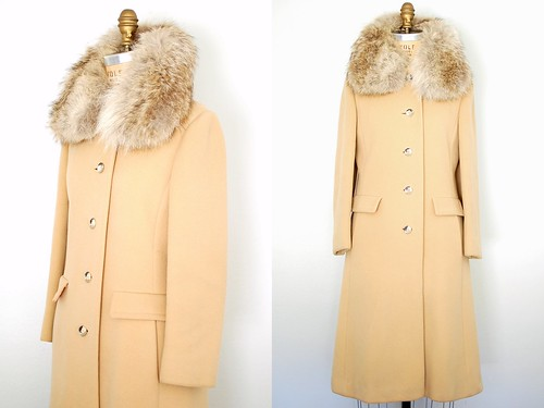 70s camel cashmere and coyote coat
