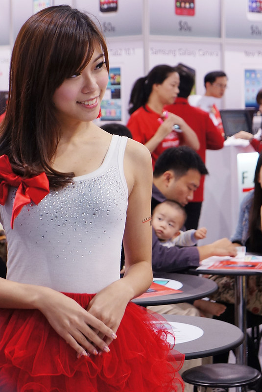 2012臺中資訊展 只愛遠傳妹
