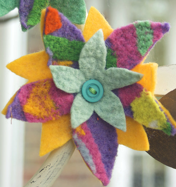 arts and crafts felt flowers embellishing flickr photo