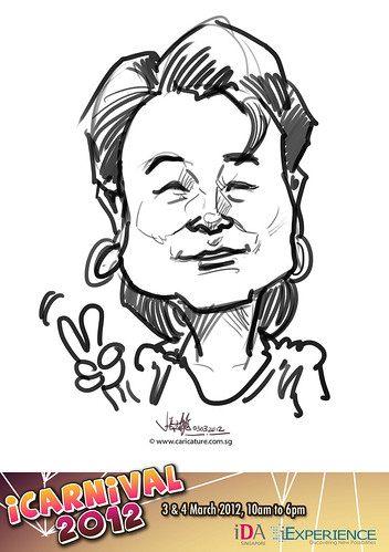 digital live caricature for iCarnival 2012  (IDA) - Day 1 - 8