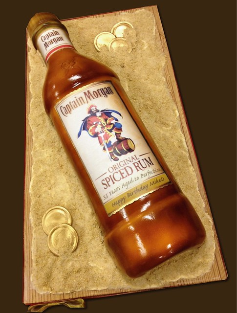 How To Make A Bottle Shaped Cake Captain Morgan