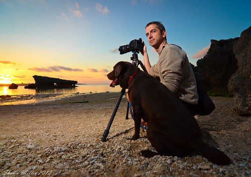 Master Willson with his Guard dog and Pentax 645D