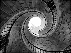 spiral, symmetry, monochrome photography, close-up, monochrome, black-and-white,