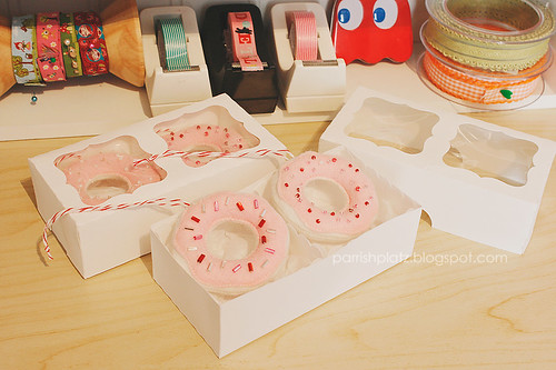 mini donut ornaments