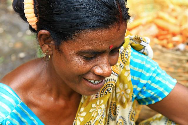 A market woman in Varanasi, India.