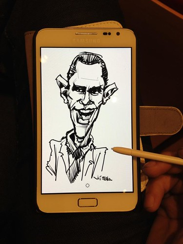test drive Obama sketch on Samsung Galaxy Note