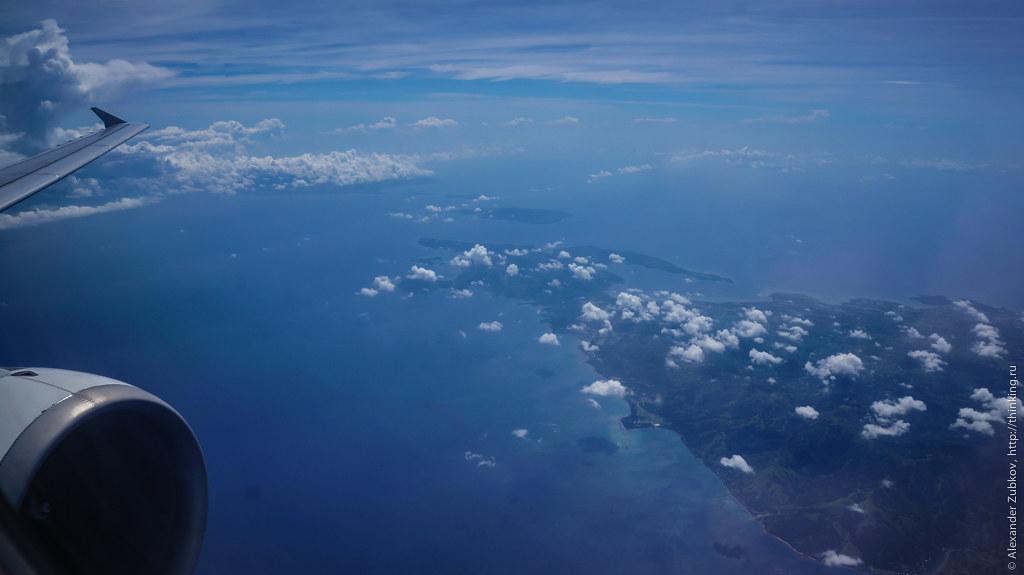 Вид из самолета на филиппинские острова