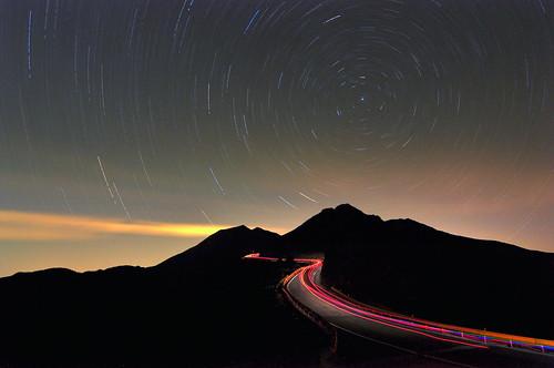 Star tracks and Light tracks