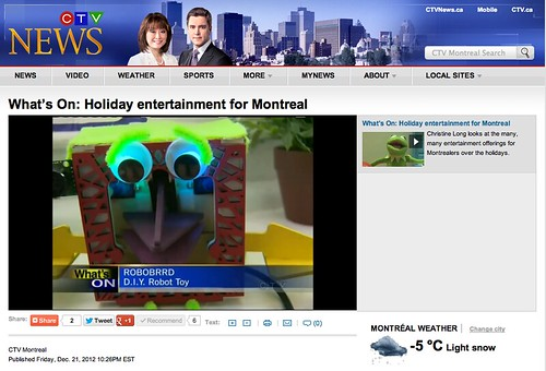 RoboBrrd on CTV Montreal