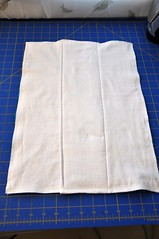 Blanket Repurposed to Finished Prefold Diaper
