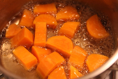 Cooking Sweet Potato for the Babies