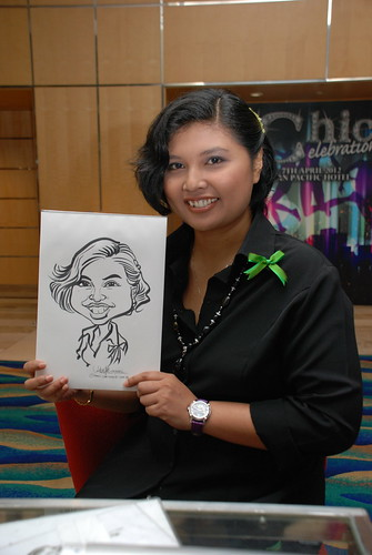 caricature live sketching for Civica Dinner & Dance 2012 - 22