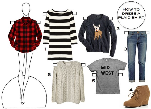 How to dress a plaid shirt