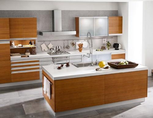 Cocinas modernas con isla central arkigrafico - Muebles de cocina con isla central ...