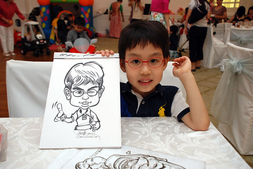 caricature live sketching for birthday party 28042012 - 5