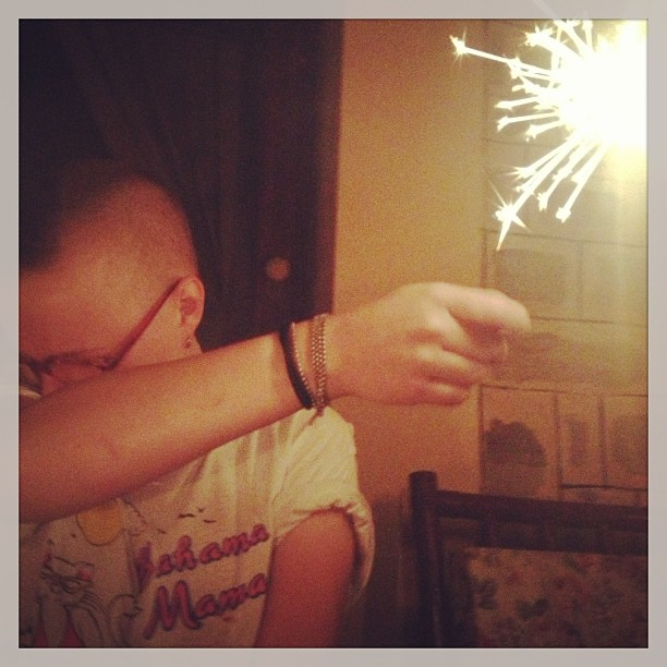 No! Sparklers are scary!