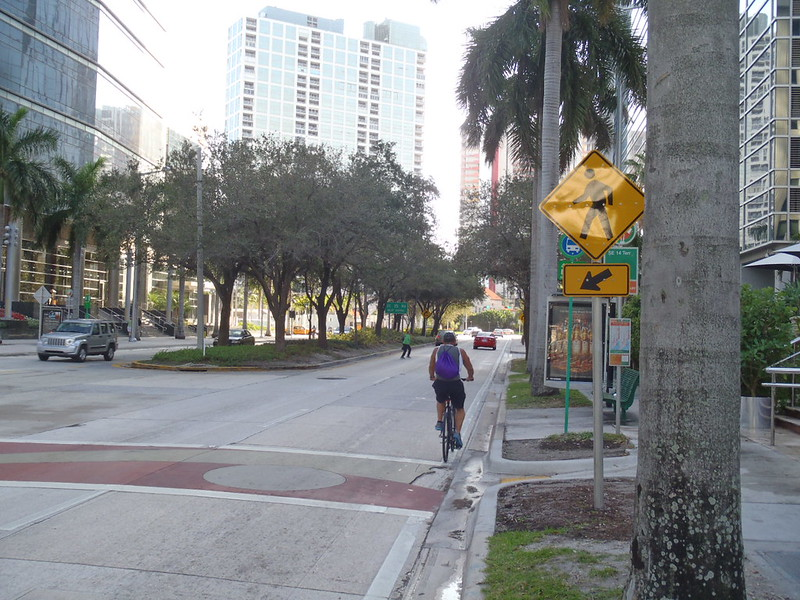 Terrible crosswalk in Brickell