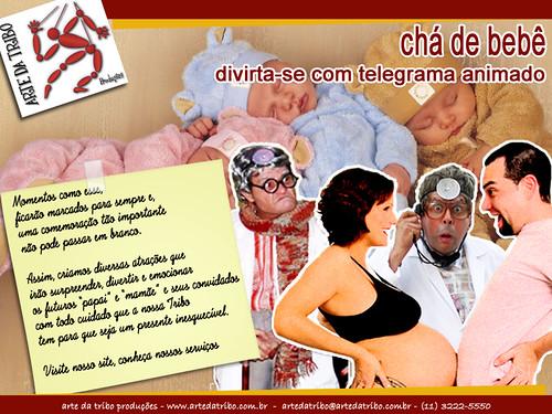 Arte daTribo - Animação eTelegrama Animado no CHÁ DE BEBÊ 2013 by Arte da Tribo Produções