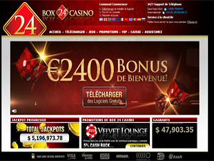 Box24 Casino Home