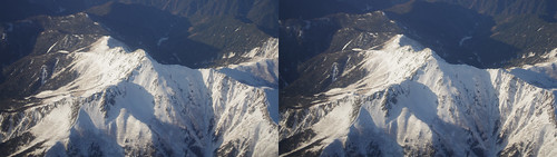 Mount Shiomi, stereo parallel view