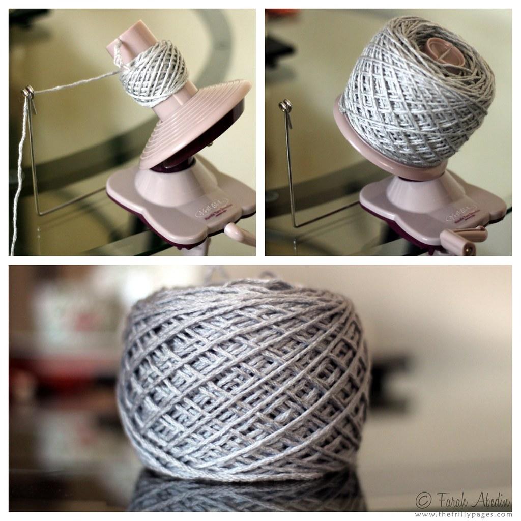 yarn ball winder: montage