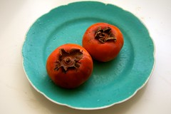 macro photography, produce, fruit, food, persimmon,