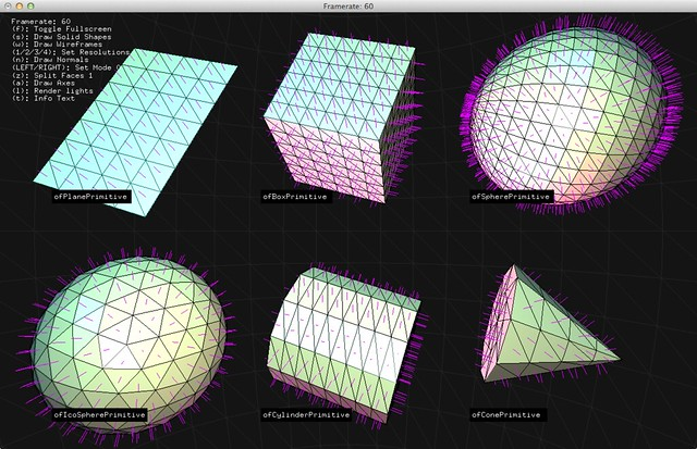 OF 3dPrimitives Vertex normals