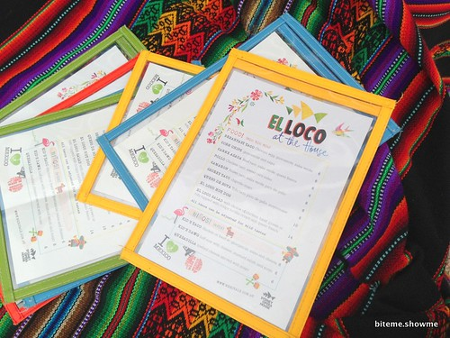 El Loco at the House - Menu