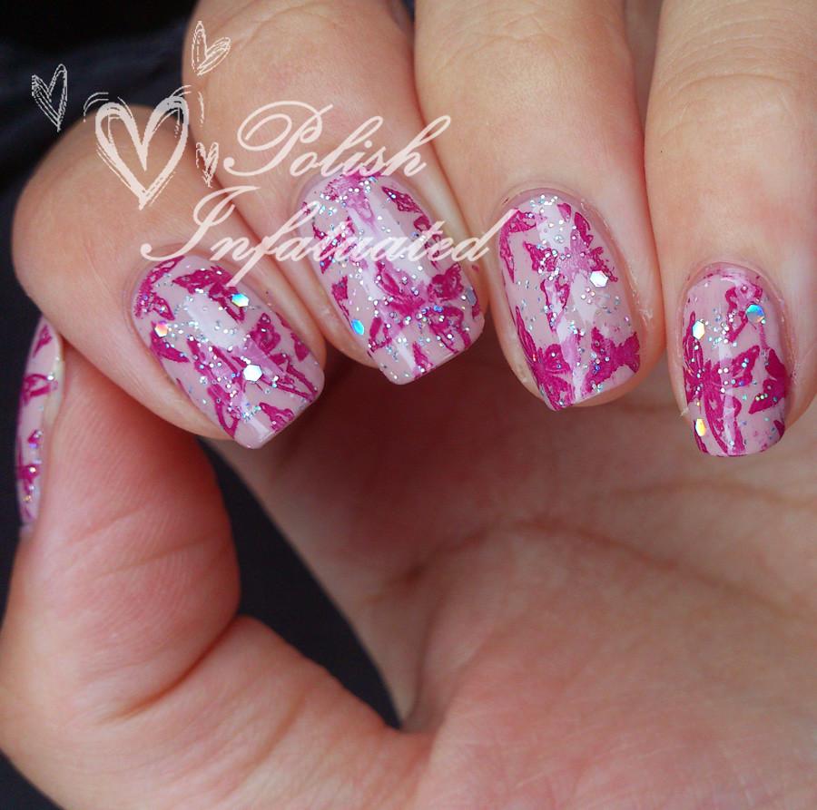 pink glittery butterflies5
