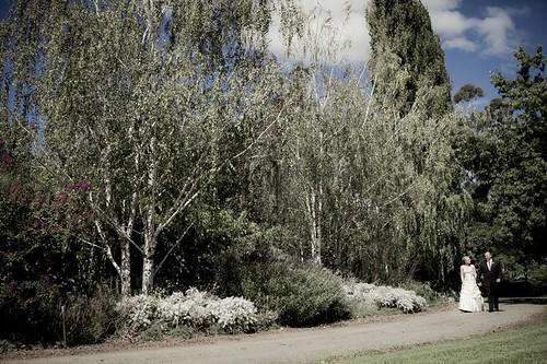 Grey Garden Couple Walking
