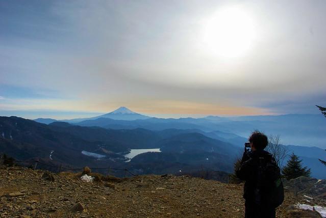 富士を眺める