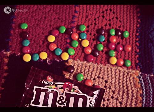 i love m&m's by Aries Parcum