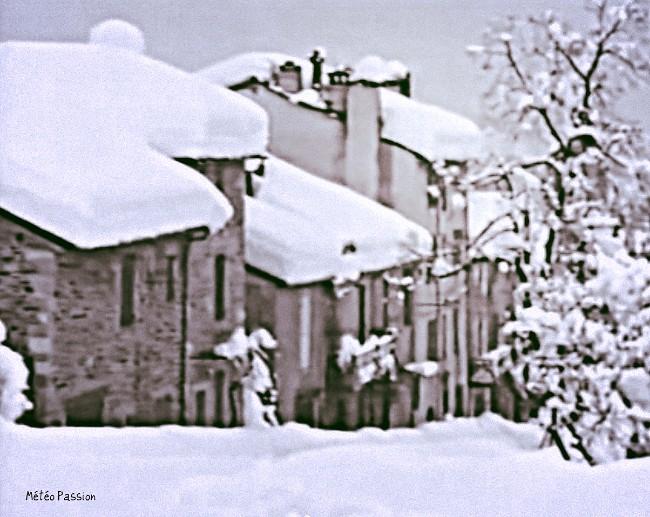 village du Midi sous la neige, les 30 et 31 janvier 1986 météopassion