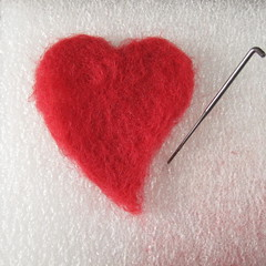 Needlefelted Hearts